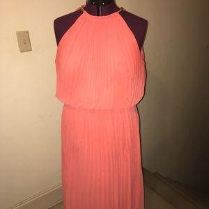 MSK Long Coral Formal Dress